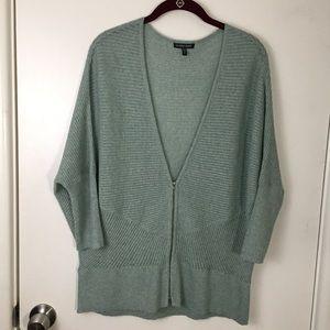 NWOT Eileen Fisher Green Zipper Sweater/Cardigan
